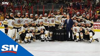 Bill Daly Presents Bruins With Prince Of Wales Trophy