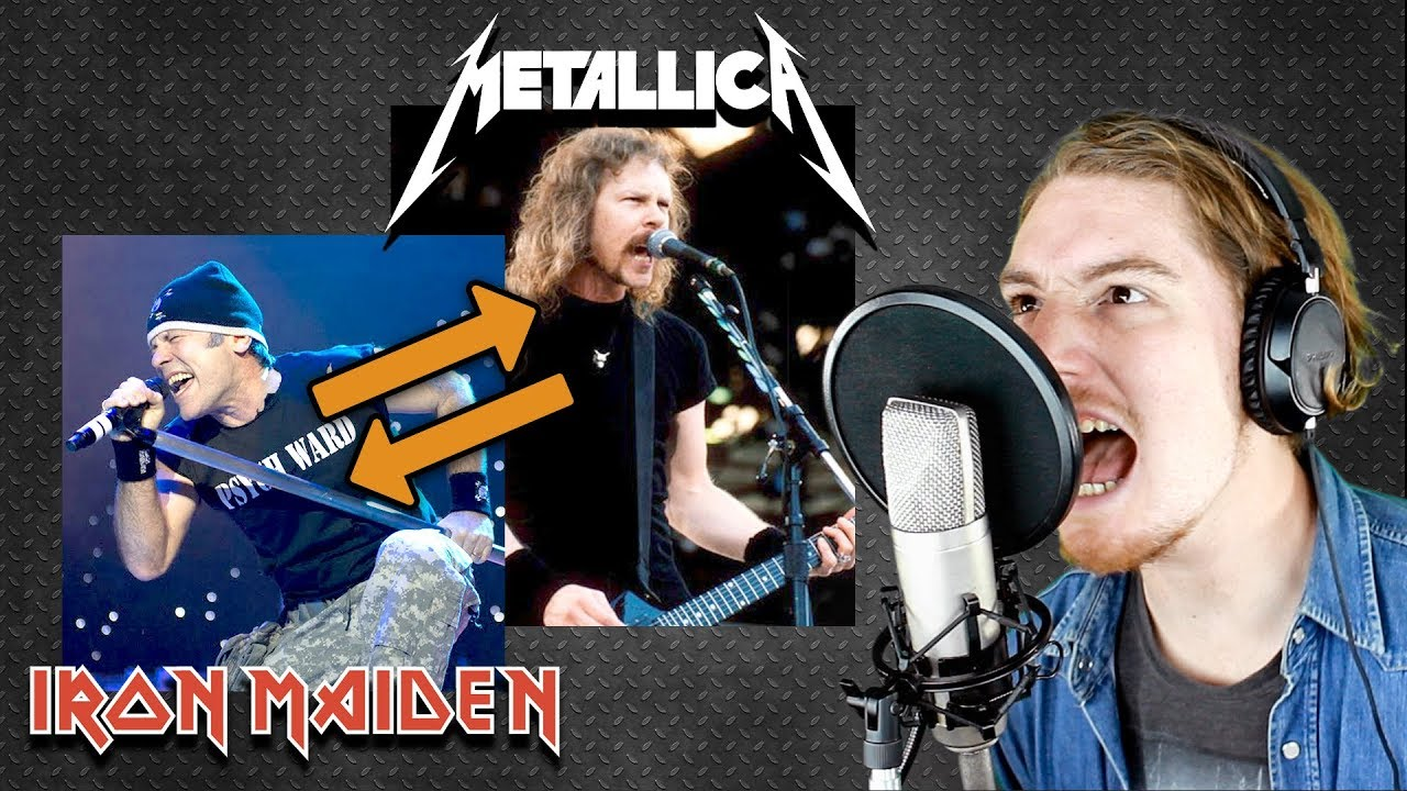 metallica iron maiden voice swap impressions youtube. Black Bedroom Furniture Sets. Home Design Ideas