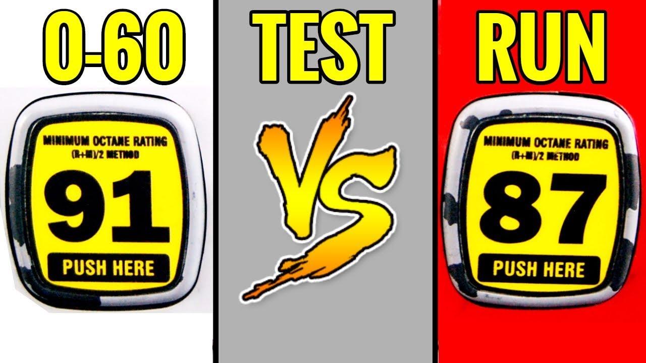 91 OCTANE vs 87 OCTANE: 0-60 mph COMPARISON!