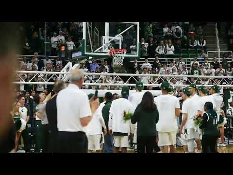 Michigan State basketball raises Big Ten title banner