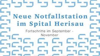 Neue Notfallstation im Spital Herisau: Fortschritte im September - November