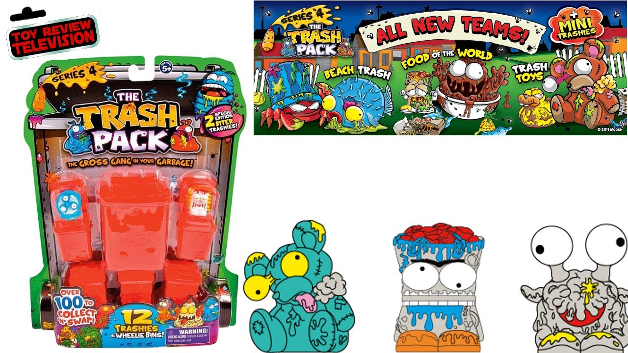 New Trash Pack Series 4 12 Pack Trashies Toy Review Unboxing