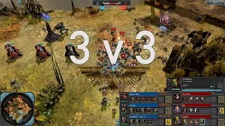 Dawn of War 2 - 3v3 | Sneery Thug + Capelan + FrezeDEF [vs] Toy Town + Def + Gigandy