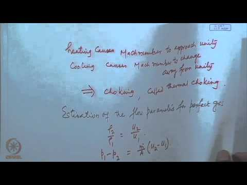 Mod-09 Lec-22 Flow in uniform duct with heating