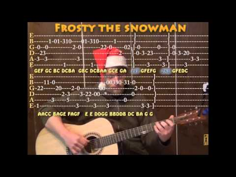 Frosty The Snowman Christmas Solo Guitar Cover Lesson With Tab