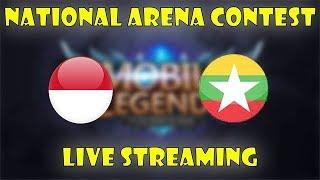 INDONESIA VS MYANMAR ARENA CONTEST MOBILE LEGENDS !