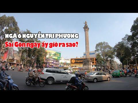Ngã 6 Nguyễn Tri Phương ngày Sài gòn nắng nóng lè lưỡi luôn