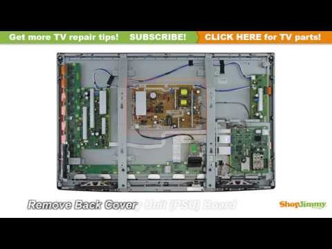 Panasonic LCD TV Repair - TV Won't Turn On - How to Replace Power Supply Board
