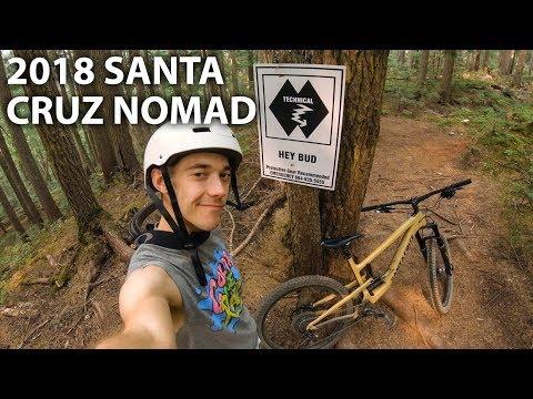 Demo Riding A Santa Cruz Nomad... On Blackcomb Trails! | Jordan Boostmaster