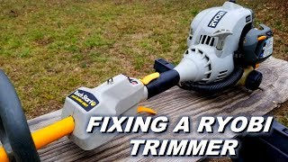 Fixing a Ryobi trimmer that doesn't work.