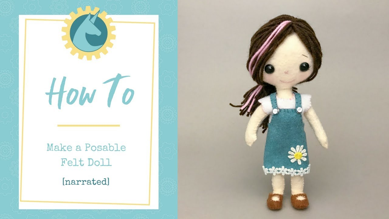 graphic regarding Free Printable Felt Doll Patterns titled Do-it-yourself Posable Felt Doll [narrated]