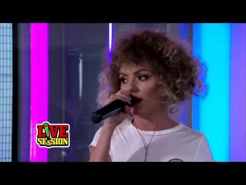 Alexandra Stan - 9 Lives (live on radio ProFM)