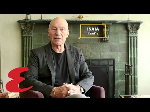How to Pronounce Italian Fashion Labels with Patrick Stewart - 'Isaia'