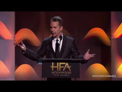 Sam Rockwell Accpts the Supporting Actor Award  HFA 2017