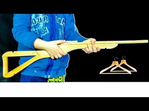 How to make a Gun from a Hanger- Rubber Band Gun