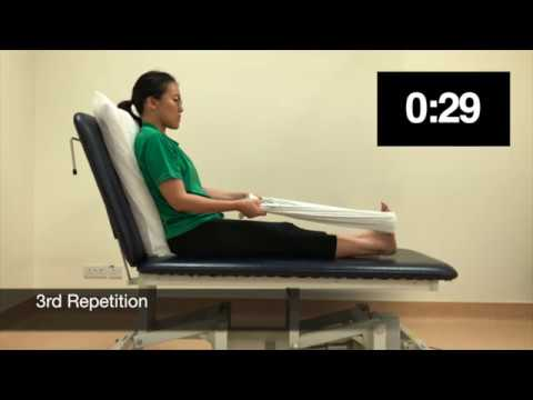 NUH Physiotherapy Calf stretch bed exercise