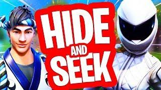 VERSTOPPERTJE MET PARADUZE & JUR!! HIDE AND SEEK in FORTNITE PLAYGROUND!