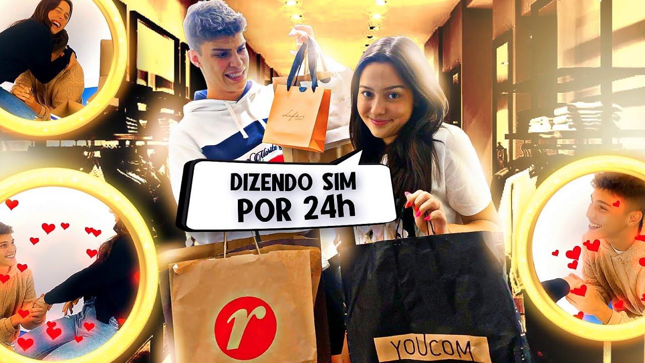 ELE PASSOU MUITA VERGONHA (Ele disse sim por 24 horas) #DizendoSim
