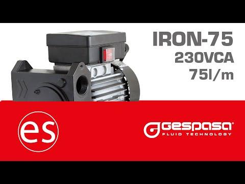 GESPASA | Bomba autoaspirante de gasóleo a 75 l/min :: IRON-75 230 VCA