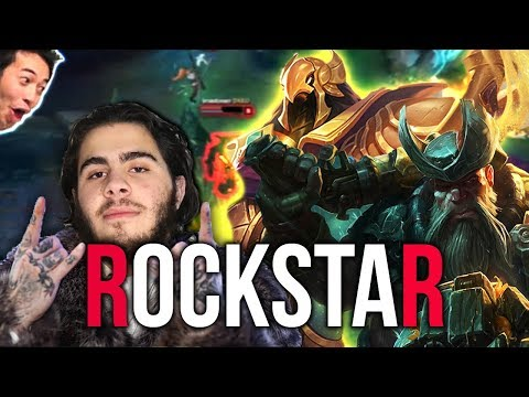 Post Malone Looking Guy Playing League of Legends like a rockstar - Artful Highlights