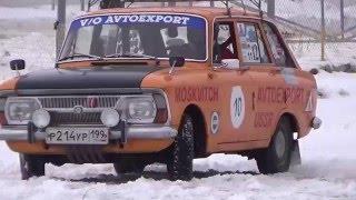Зимняя гонка классических автомобилей
