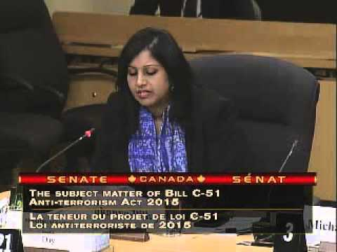 CCLA testifies at Senate Committee on Bill C-51