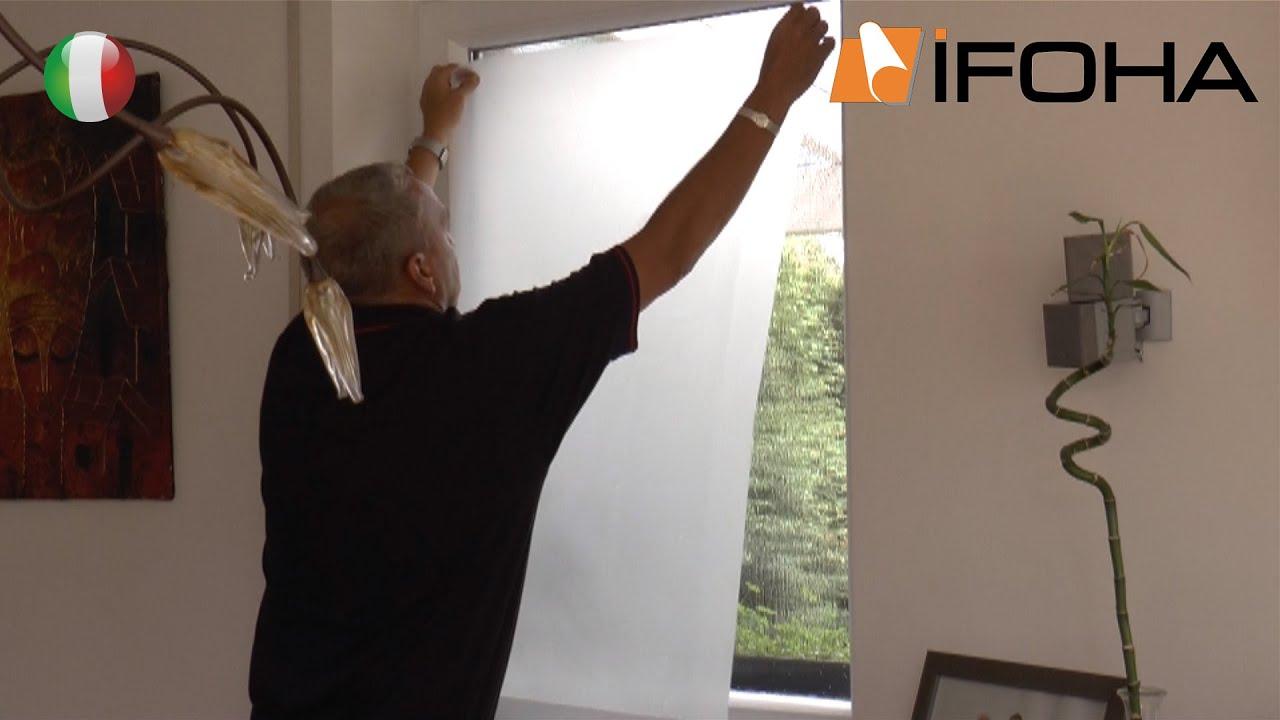 Video per incollaggio pellicola per finestra autoadesiva