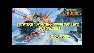 How To Fix Updating Download List Error/Glitche In PUBG MOBILE | 100 Working