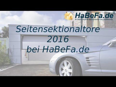 Extrem HaBeFa Seitensektionaltore 2016 - YouTube JI55