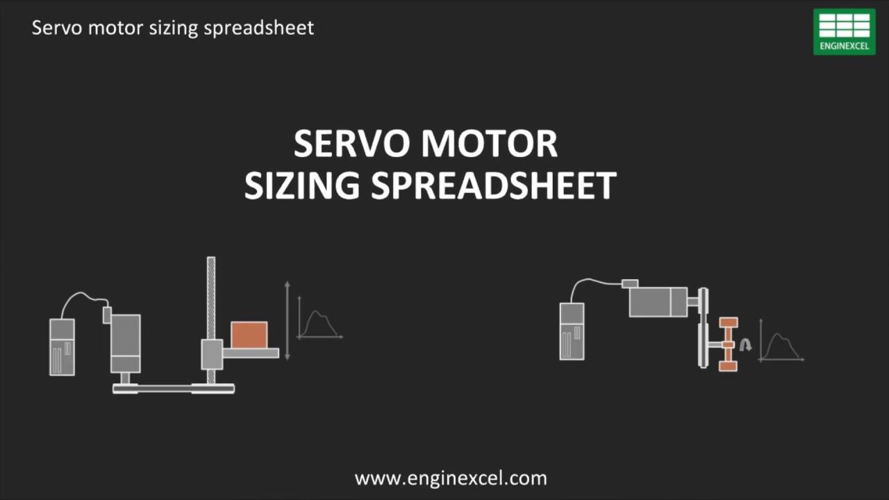Servo motor sizing spreadsheet | EnginExcel Free Spreadsheets - YouTube