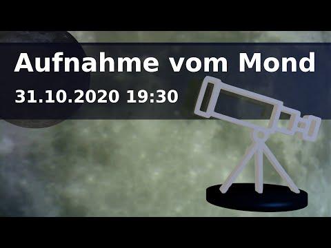 Teleskop Aufnahme vom Mond am 31.10.2020 19:30 (Halloween)