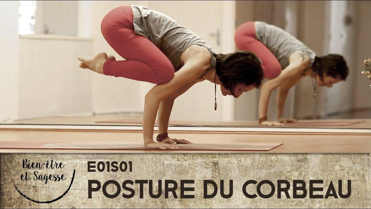 tutoriel yoga débutant - Bakasana - La posture du corbeau - 1/4