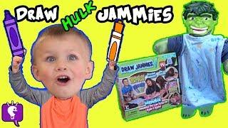 JAMMIES As Seen On TV! Magic GLOW Paint Pens + Hulk Pajamas HobbyKidsTV