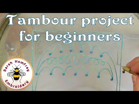 Tambour embroidery project for beginners