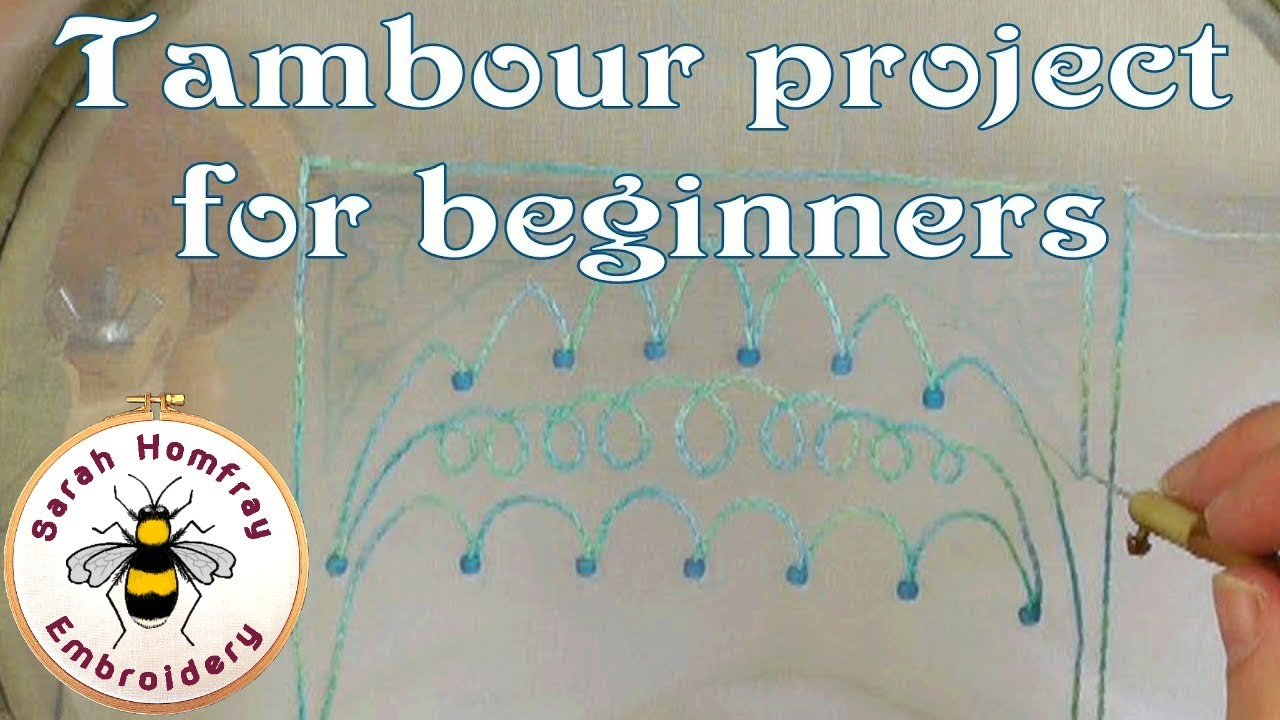 Tambour Embroidery Project For Beginners Youtube