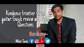 kadence frontier series semi acoustic guitar unboxing | Reviews in Hindi | AMAZON FAQ and benifits