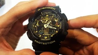 CASIO G-SHOCK MILITARY WATCH GA-100CF-1A9 UNBOXING