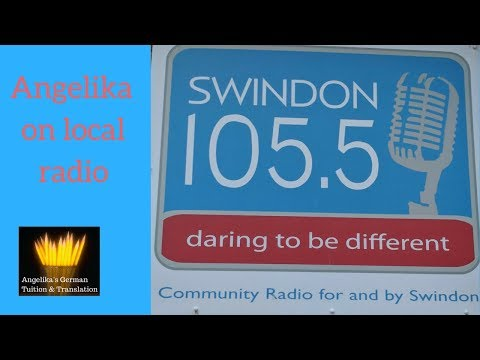 Angelika talks about learning German on local radio Swindon 105.5