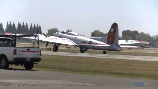 Boeing B-17 Flying Fortress  Engine Start, Take off and Landing