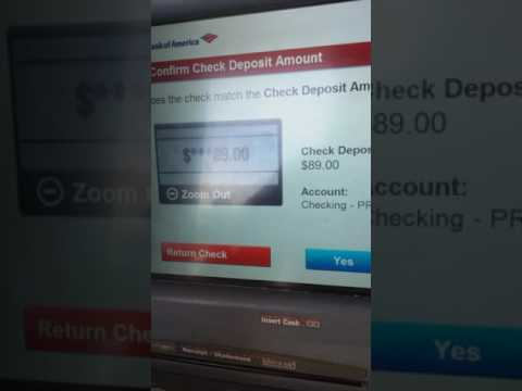 Bank of America Check Deposit