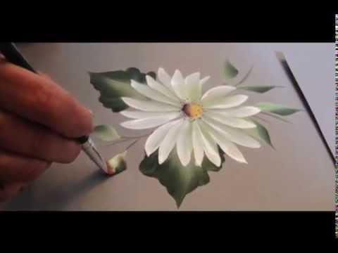 One Stroke How To Paint A Daisy Youtube