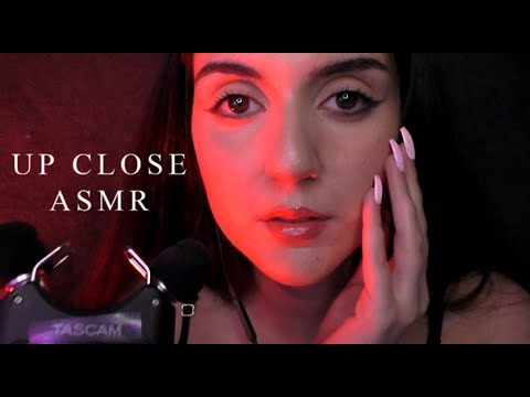 ASMR| Up Close Breathy Whispers | Tracing My Face ♡ (Personal Attention)