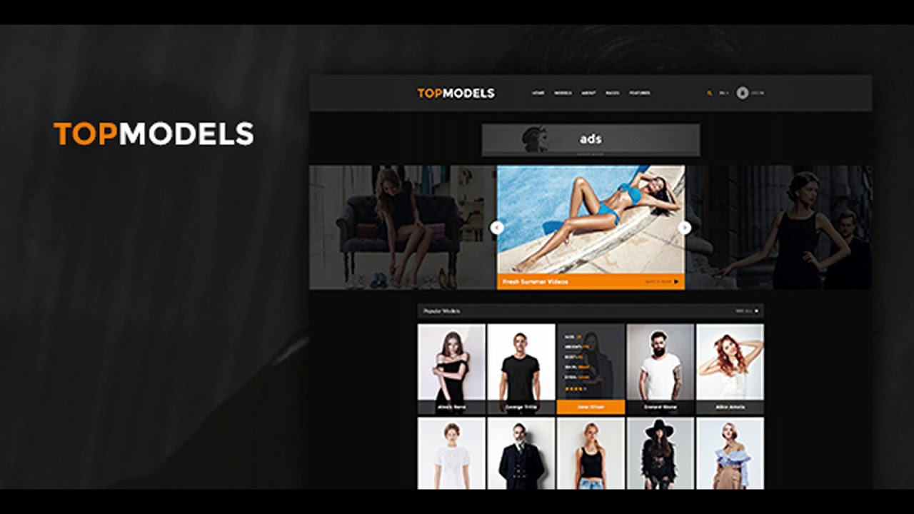 top models directory fashion talent agency themeforest website