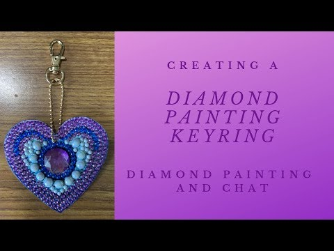 Demonstration of Completing a Heart Diamond Painting Key Ring