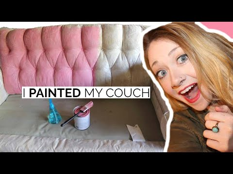 DIY- I PAINTED MY COUCH