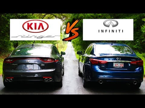 Kia Stinger GT VS Infiniti Q50S RedSport 400 ILine Drag Race Quarter Mile | Brake  Performance Test