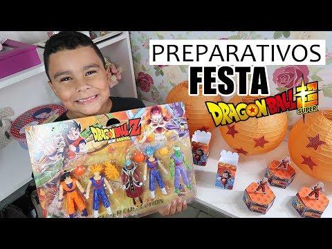 PREPARATIVOS FESTA DRAGON BALL Z: COMPRAS PARA A FESTA #1