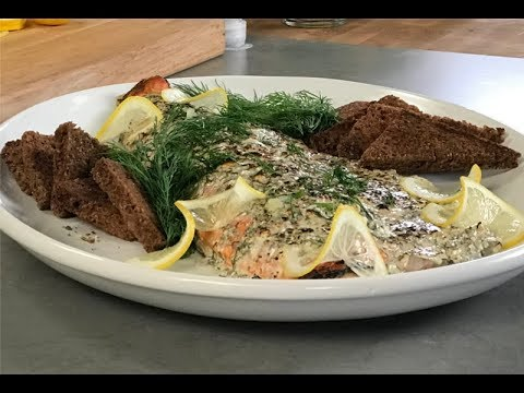 Andrew Zimmern Cooks: Broiled Salmon With Blue Cheese