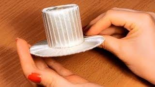 Как сделать шляпку своими руками? / Мастер Класс / Основа для Канзаши(Меня зовут Настя, и я рада приветствовать вас на своем канале, на котором представлены мастер класс по канза..., 2014-04-07T07:00:00.000Z)