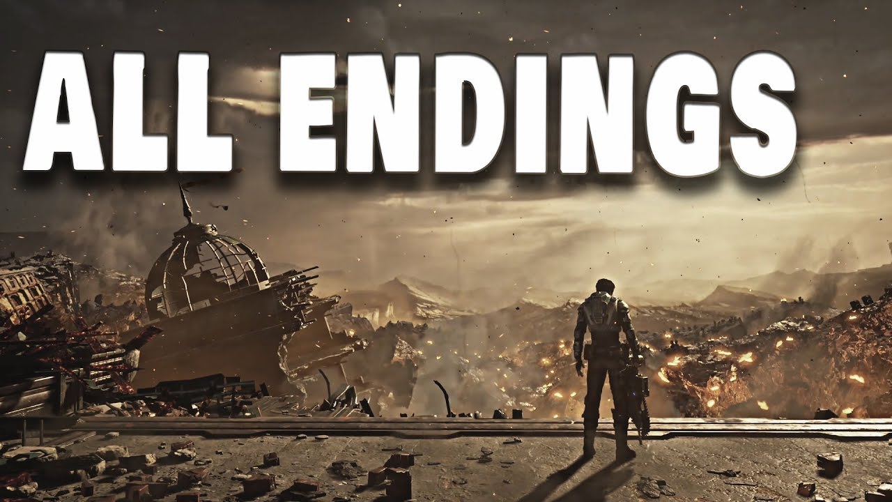 Gears 5 - Final Kraken Boss Fight + All ENDINGS // Both